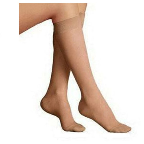 Jobst Ultrasheer Woman's Knee High Moderate Compression Stockings Closed Toe Size X-Large | 119404