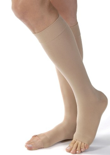 obst Ultrasheer Knee High Moderate Compression Stocking Open Toe - Medium Natural    119503   035664195038