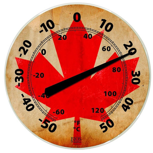 """BIOS Medical Maple Leaf 12"""" Indoor-Outdoor Dial Thermometer -  BIO-524BC"""