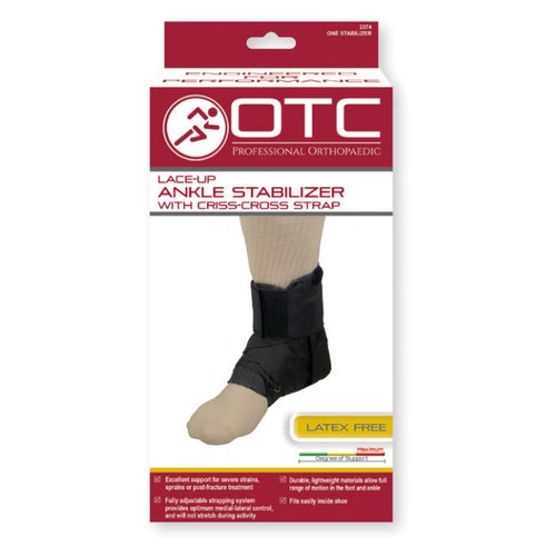 Airway Surgical OTC Lace-Up Ankle Stabilizer With Criss-Cross Straps - One Stabilizer -  AWS-2374