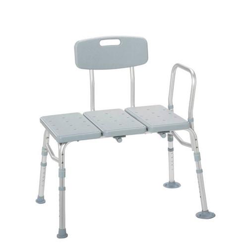 Drive Medical PreserveTech Transfer Bench - Gray | 822383004655 | 12011KD-1A