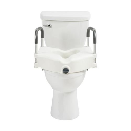 Drive Medical PreserveTech Secure Lock Raised Toilet Seat  | 822383005669 | RTL12C003-WH