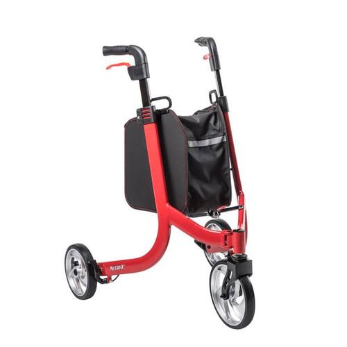 Drive Medical PreserveTech Nitro 3-Wheel Rollator - Red   822383006314   RTL10266TWHL