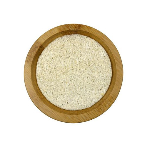 Relaxus SpaRelaxus Round Bamboo Soap Tray with Loofah Pad   506340