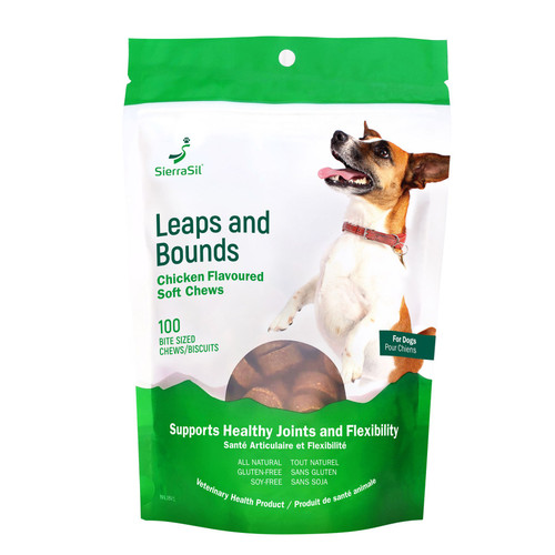 SierraSil Leaps and Bounds Chicken Flavoured Soft Chews for Dogs 100 Count