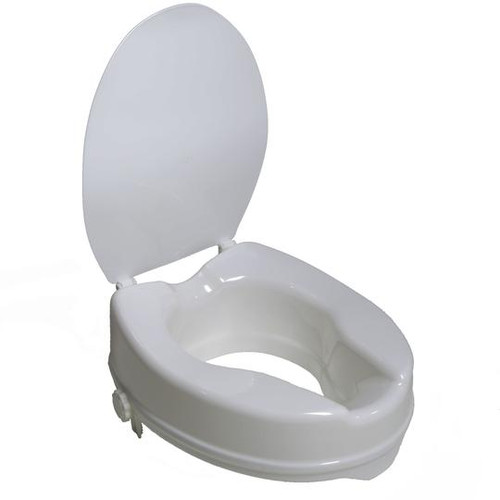 """Airway Surgical PCP 4"""" Molded Raised Toilet Seat with Lid   7024   048503702403"""