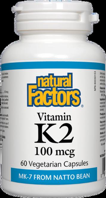 Natural Factors Vitamin K2 100 mcg Vegetarian Capsules 60 Capsules | 68958012940