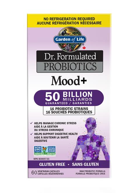 Garden of Life Dr. Formulated Probiotics Mood+ 50 Billion Shelf Stable   658010120395