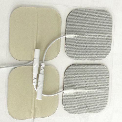 """StimTec Silver Clinical Use 2"""" Square Electrodes - Tricot Backing 4pack   STIM-SL5050"""