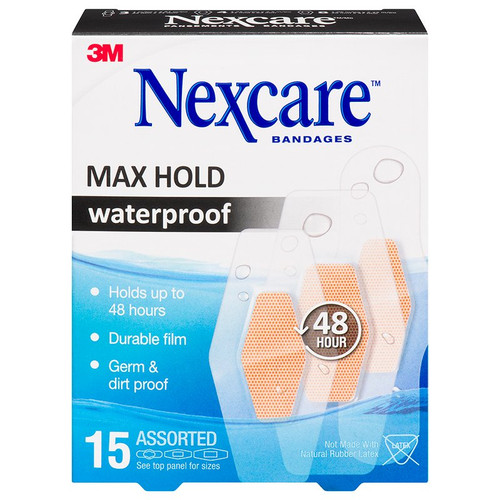 3M Nexcare Max Hold Waterproof Bandages | 00051131217959