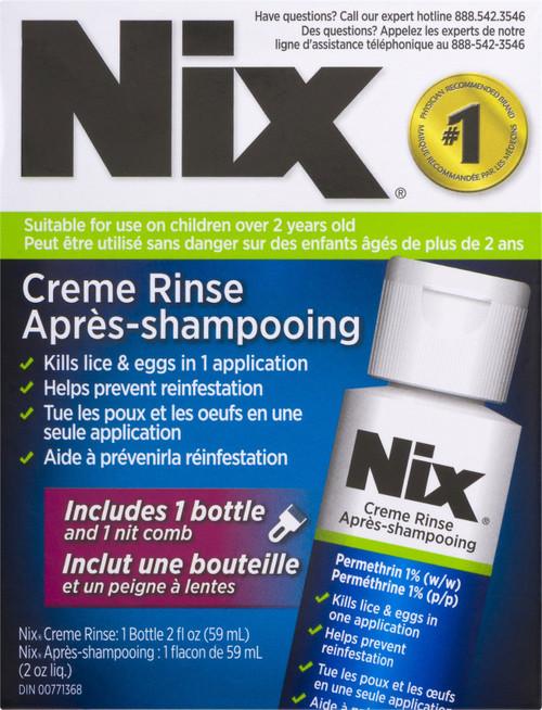 Nix Creme Rinse 59mL + 1 Nit Comb | 624558020794