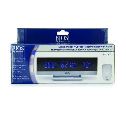 BIOS Medical Weather Digital Indoor / Outdoor Thermometer with Alarm   057475357238