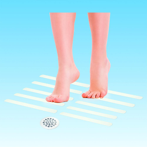 BIOS Medical Anti-Slip Strips - Clear 12 Pack   057475580032