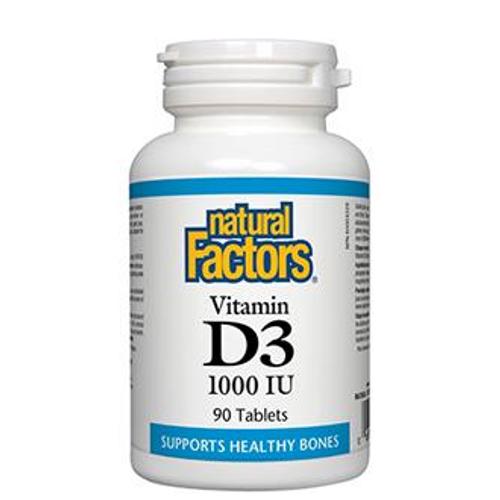 Natural Factors Vitamin D3 1000 IU Tablets   068958010502