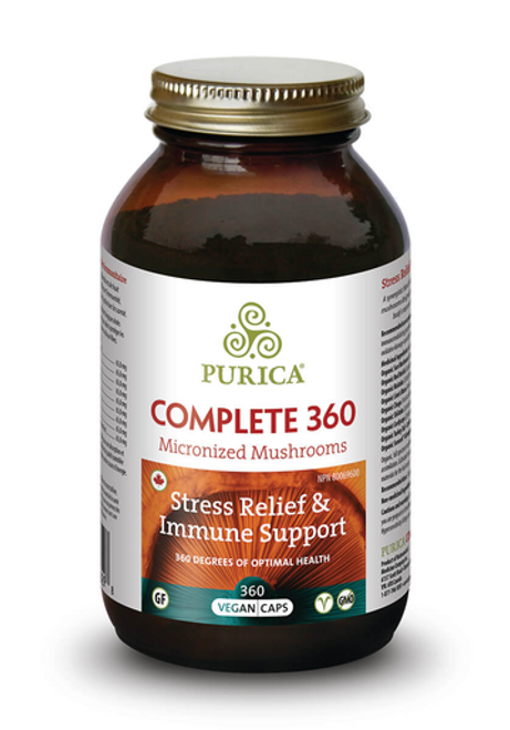 Purica Complete 360 Micronized Mushrooms V-Caps - Stress Relief & Immune Support 360 V-caps