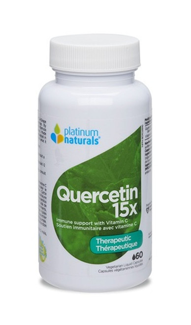 Platinum Naturals Therapeutic Quercetin 15X - 60 Vegetarian Liquid Capsules