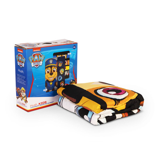 HUSH Paw Patrol Weighted Blanket - Chase (38X54 inches - 5lbs) (HSH-38X54-PAWPATROL-B-5)