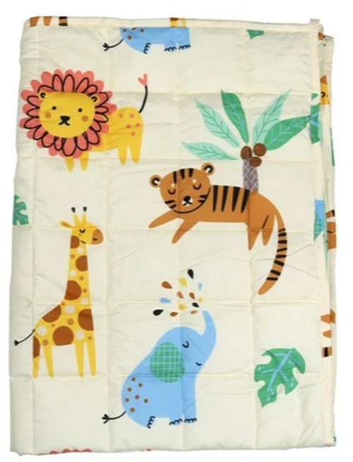 Relaxus Sensory Calming Weighted Blanket for Kids - Safari Jungle - Product Profile   REL-702645