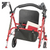 """Drive Medical Durable 4 Wheel Rollator with 7.5"""" Casters - Red"""