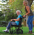 """ProBasics Aluminum Transport Chair with 12"""" Wheels 