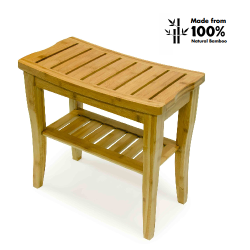 Bios Medical Bamboo Shower Bench Bath Chair