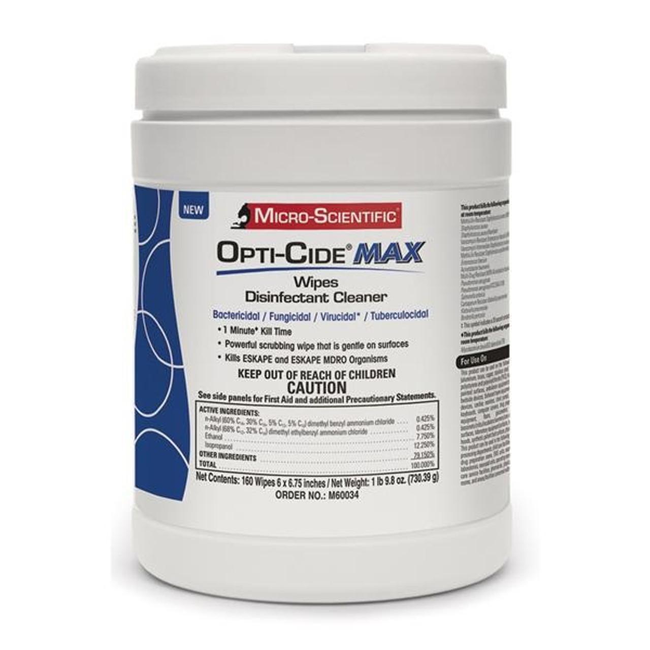 Micro-Scientific Opti-Cide MAX Surface Disinfectant Wipes