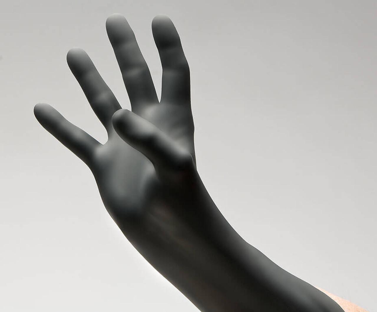 BLACKWORK® Black Chloroprene Exam Gloves – Series 10, 100/Bx, 10Bx/Cs