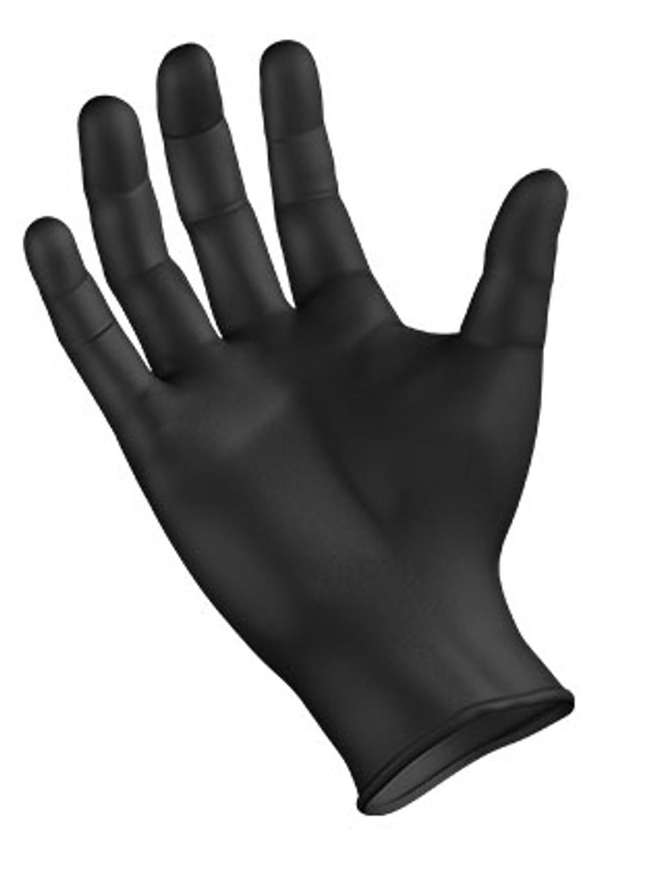 StarMed® Black Nitrile • Powder-Free • Fingertip Textured, 100/BX