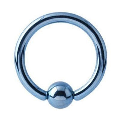 14g Titanium Ball Closure Ring with Ball