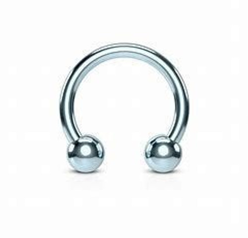 16g Titanium Circular Barbell Externally Threaded