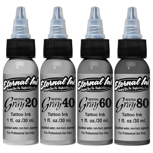 Eternal Inks Neutral Opaque Gray Set, 1oz.