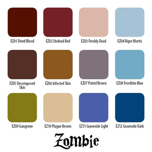Zombie Colors Set, 1oz.