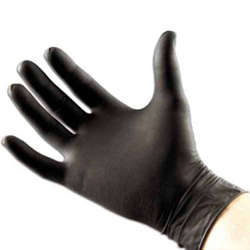 Black Arrow Latex Gloves, Powder-Free, 100/Bx, 10Bx/Cs