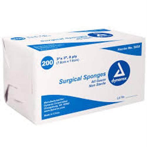 Dynarex Gauze Sponges, Non-Sterile