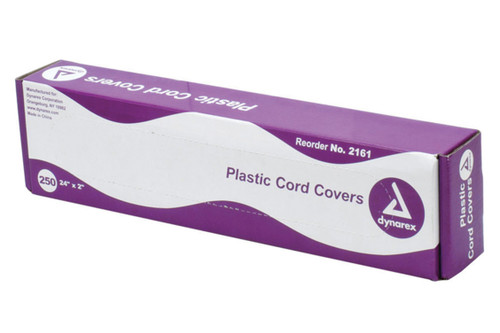 """Tattoo Plastic Clip Cord Covers, 24"""" x 2"""", 250/Bx"""
