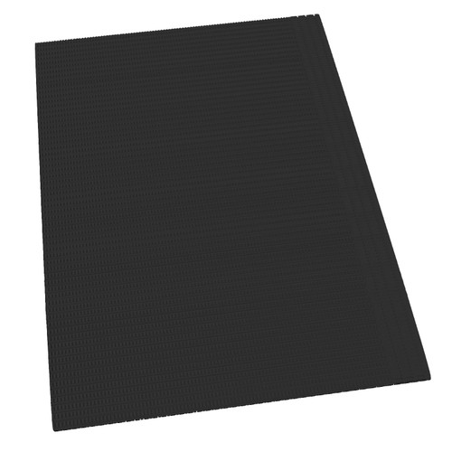 Black Lap Cloth/Towels Poly Back, 500/Bx, Disposable