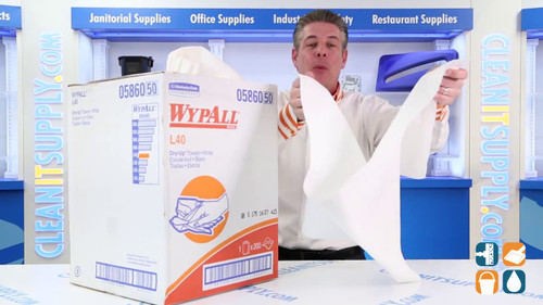 "XL Wypall L40 Dry-Up Towels, 19 1/2"" x 42"", 200/Roll"