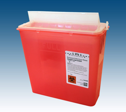 PPI Wall Mount Cabinet for 5 qt. Sharps #141020 with optional Glove Box Holder