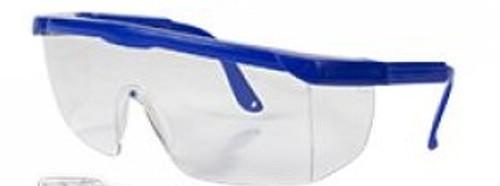 Safety Eye Glasses, Blue or Black Frames