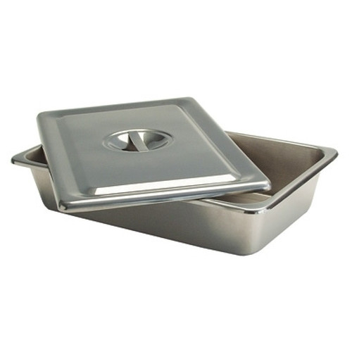 Tech-Med®Stainless Instrument Soaking Trays with Lid