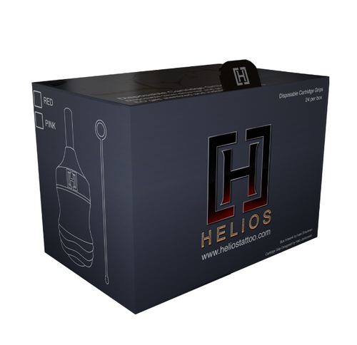 Helios Cartridge Grips Red - Box of 24