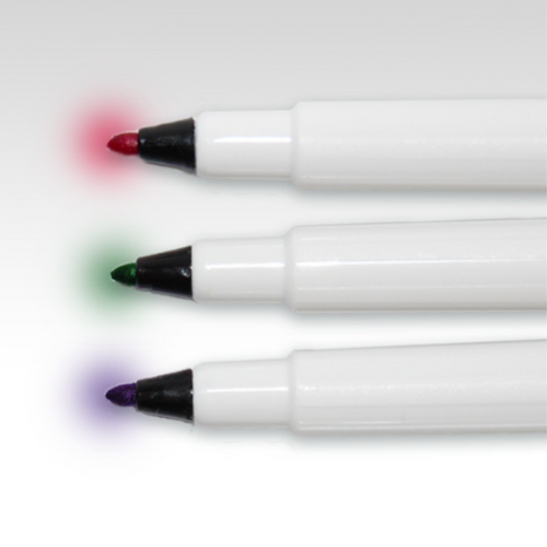 VISCOT XL Skin Marker 12 Pack of Red, Green, and Purple