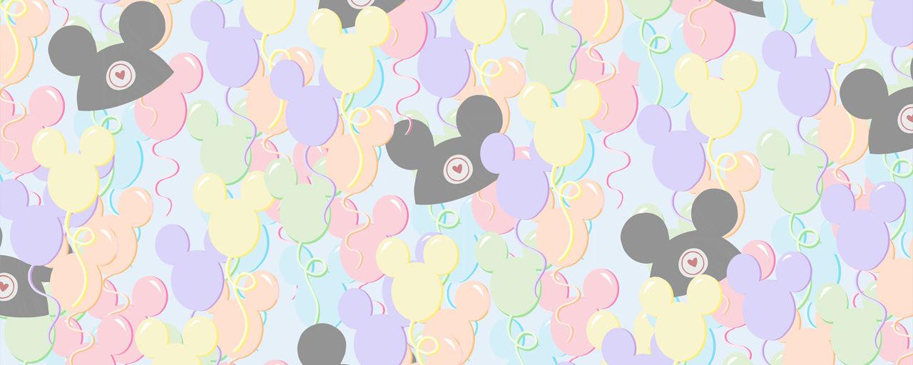 Pastel Mickey Ears Balloons Disney Inspired