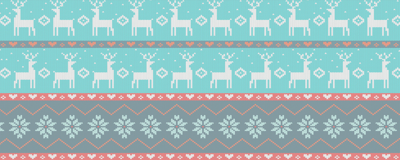 Ugly Christmas Reindeers Sweater Pattern