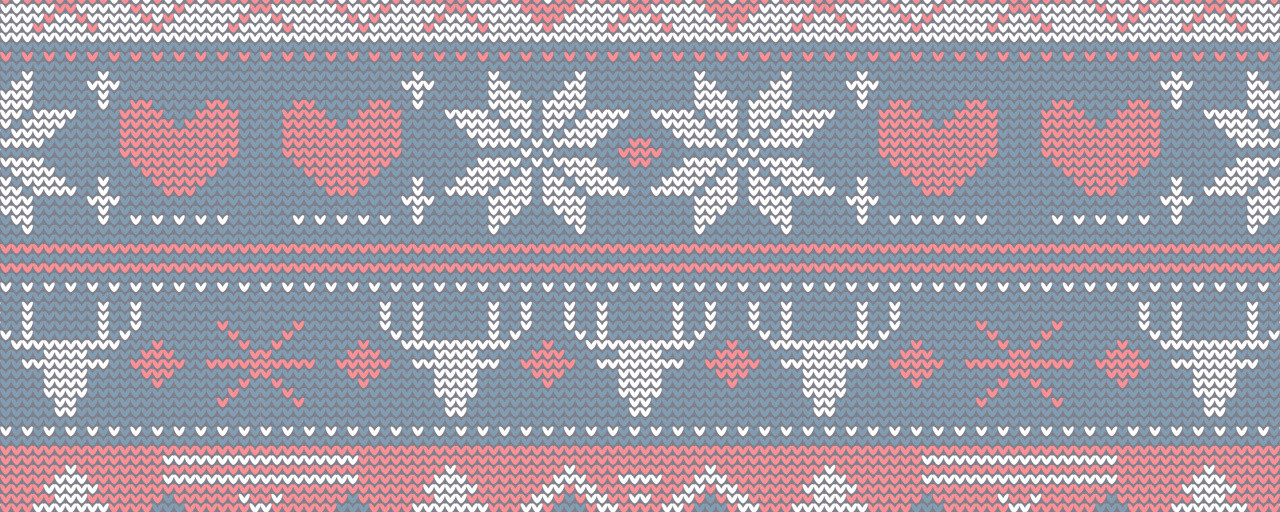 Ugly Christmas Sweater Navy & Red