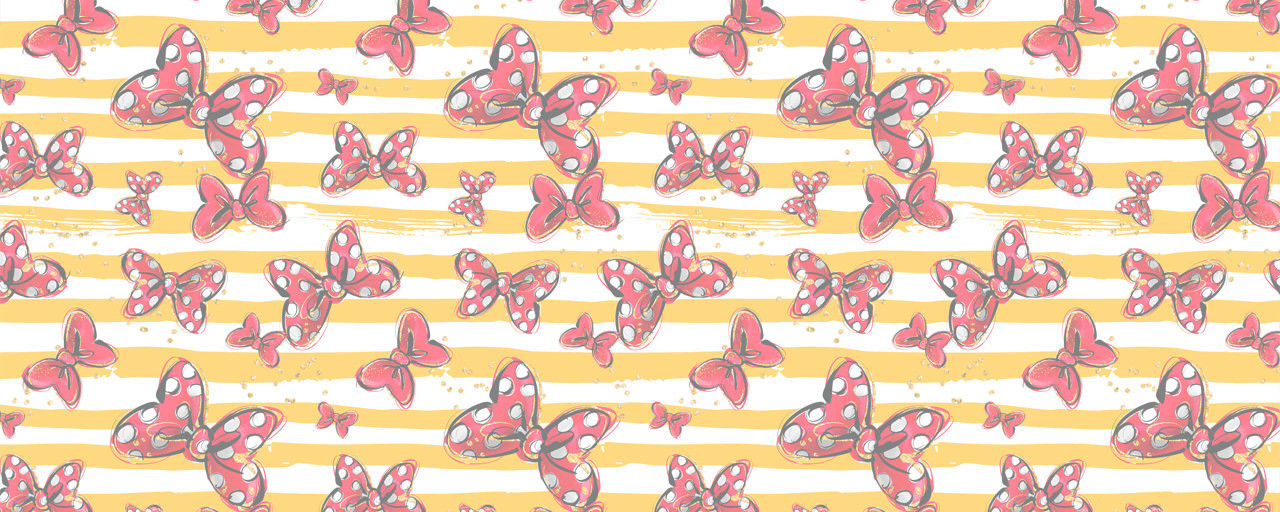 Minnie Bows Yellow Stripes Disney Inspired