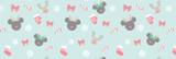 Christmas Mickey & Minnie Reindeers Disney Insp...