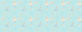 Princess Jasmine Icons on Blue Disney Inspired