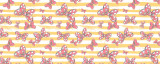 Minnie Bows Yellow Stripes Disney Inspired