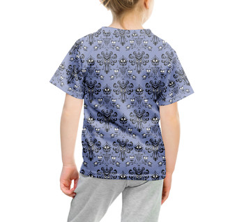 Youth Cotton Blend T-Shirt - Haunted Mansion Wallpaper